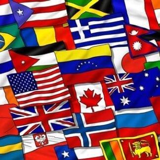 Nations- & gästflaggor