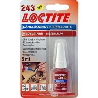 Skruvlåsning Loctite 243 (blå) 5 ml medelstark