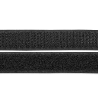 Kardborreband självhäftande 20 mm, svart