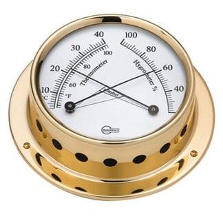 Termo-/hygrometer Barigo Tempo mässing