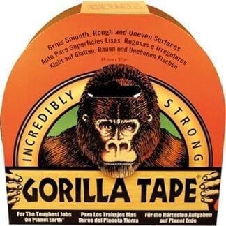 Gorilla vävtejp 48 mm x 32 m svart