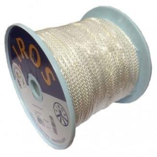 LIROS flätad polyesterlina minirulle vit 4 mm x 10 meter
