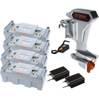 Torqeedo Cruise 10.0 RXL (elektronisk relgagebox, extra lång rigg) inklusive batteri och laddare