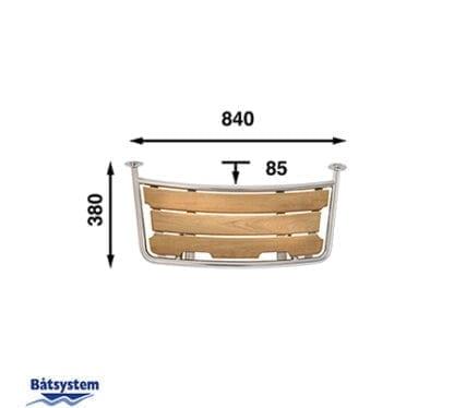 Badplattform för segelbåt Båtsystem 35-serien PT8035 med säkerhetsgrepp