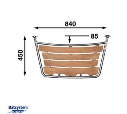 Badplattform för segelbåt Båtsystem 45-serien PT8045 med säkerhetsgrepp