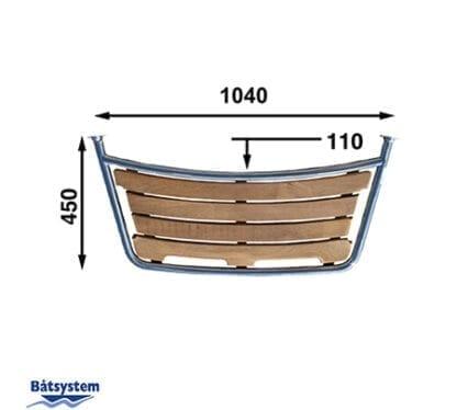 Badplattform för segelbåt Båtsystem 45-serien PT1104530 med säkerhetsgrepp