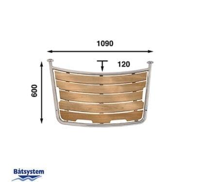 Badplattform för segelbåt Båtsystem 60-serien PT1006030 med säkerhetsgrepp