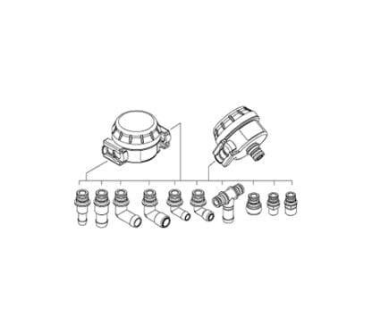 Vattenfilter för inlopp Johnson Pump M40