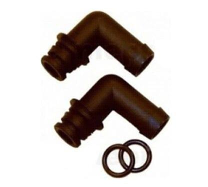 Anslutning Johnson Pump KlickTite 90° slang 12 mm