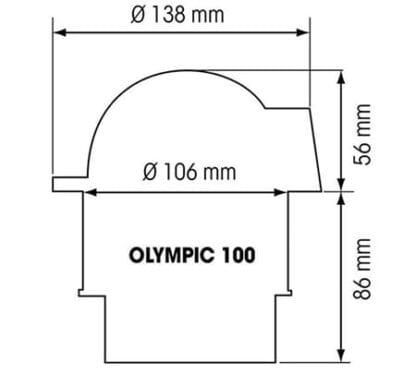Plastimo Olympic 100 med platt ros