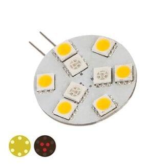LED NauticLED G4 Dual sidepin 10-35V röd/vit 0,6/1,4W 2700K