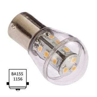 LED NauticLED BA15S Bulb 10-35V 1,6W 2700K