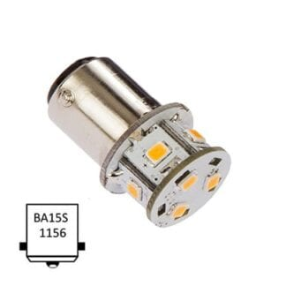 LED NauticLED BA15S Tower 10-35V 1,4W 2700K