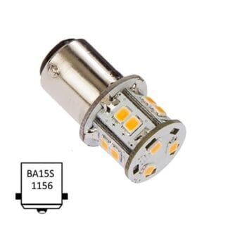 LED NauticLED BA15S Tower 10-35V 1,8W 2700K