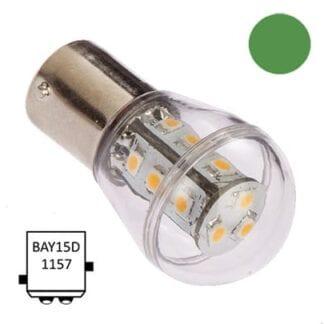 LED för lanterna NauticLED BAY15D Bulb grön 10-35V 1,2W