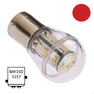 LED för lanterna NauticLED BAY15D Bulb röd 10-35V 1,2W