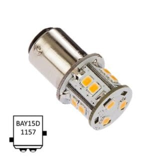 LED för lanterna NauticLED BAY15D Tower kallvit 10-35V 1,8W
