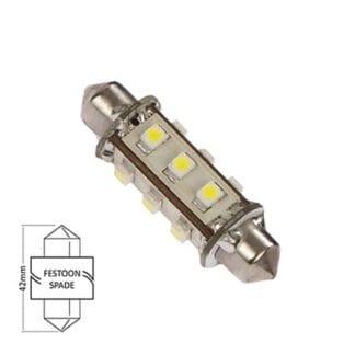 LED för lanterna NauticLED spoolfattning kallvit 10-30V 1,0W 42mm