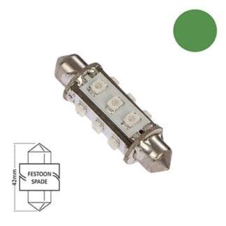 LED för lanterna NauticLED spoolfattning grön 10-30V 1,0W 42mm