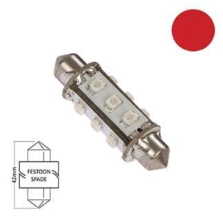 LED för lanterna NauticLED spoolfattning röd 10-30V 1,0W 42mm