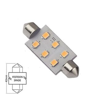 LED NauticLED spoolfattning varmvit 10-35V 1,1W 42mm
