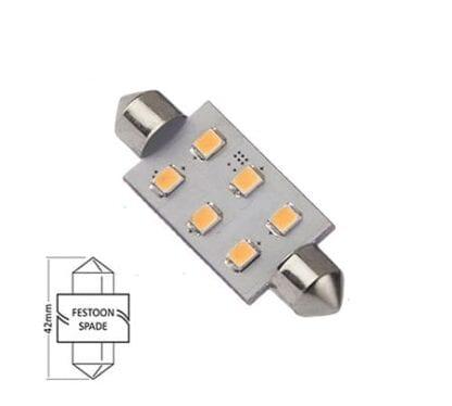 LED NauticLED spoolfattning varmvit 10-35V 1,1W 42mm