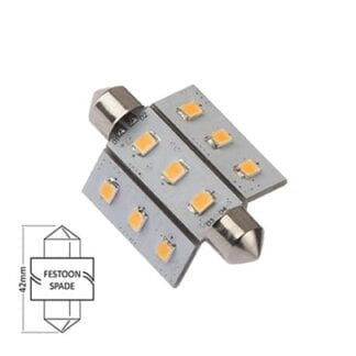 LED NauticLED spoolfattning varmvit 10-35V 1,6W 42mm