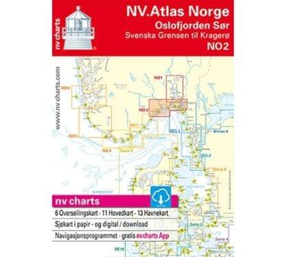 NV. Verlag båtsportkort Atlas serie NO2 utgåva 2018