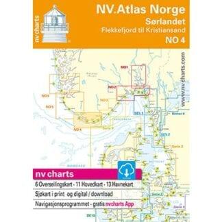 NV. Verlag båtsportkort Atlas serie NO4 utgåva 2018