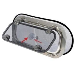 Mörkläggande myggnät till portlight (2-pack)