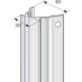 RCB 30 mm vingskena 3,4m