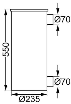 Refleks kamin modell 66 1,7 kW