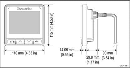 Raymarine i70s instrumentsystem