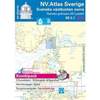 NV. Verlag båtsportkort Atlas serie SE5.1 utgåva 2017/18
