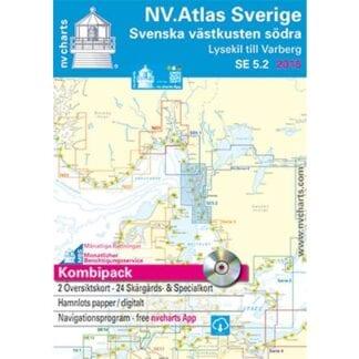 NV. Verlag båtsportkort Atlas serie SE5.2 utgåva 2017/18