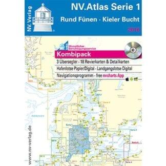 NV. Verlag båtsportkort Atlas serie 1 utgåva 2018