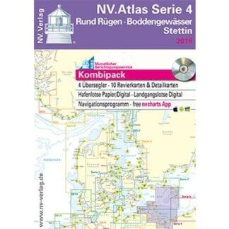 NV. Verlag båtsportkort Atlas serie 4 utgåva 2018