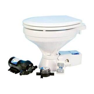 Toalett elektrisk Jabsco Compact Quiet Flush sjövattenpump 12V