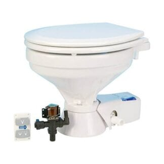 Toalett elektrisk Jabsco Comfort Quiet Flush magnetventil 12V