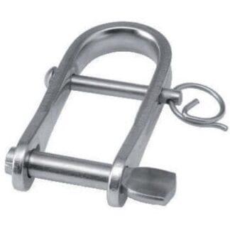 Pressad nyckelschackel med pinne rostfri