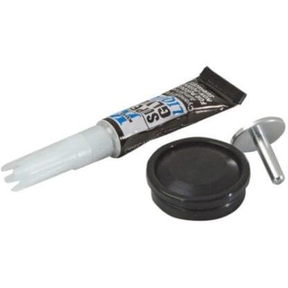 Frikopplingsknapp med gummiskydd och knapp