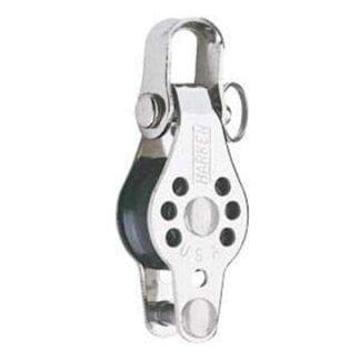 Harken 22 mm Micro enkelblock med schackel och hundsvott
