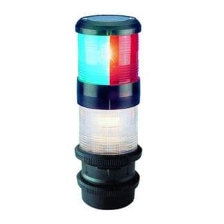 AquaSignal serie 40 ankar-/trefärgslanterna med QuickFit fäste, båt < 20 meter