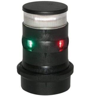 AquaSignal serie 34 ankar-/trefärgslanterna LED svart med QuickFit fäste, båt < 20 meter