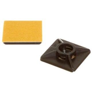 Monteringsplatta för buntband, svart