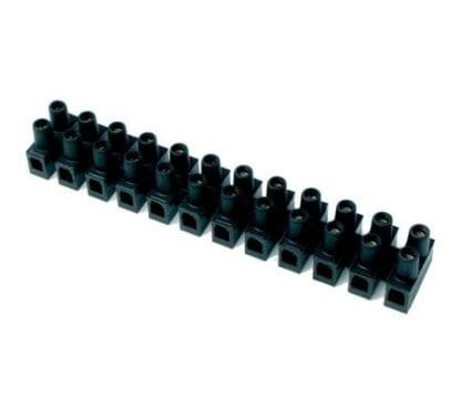 Kopplingsplint med skruvterminal 12-polig kabel 1,5 - 2,5 mm²