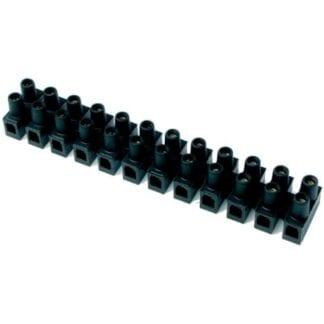 Kopplingsplint med skruvterminal 12-polig kabel 2,5 - 6,0 mm²