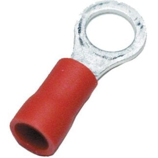 Ringkabelsko röd M6 10-pack (kabelarea 0,75 - 1,5 mm²)