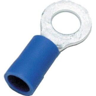 Ringkabelsko blå M6 10-pack (kabelarea 1,5 - 2,5 mm²)