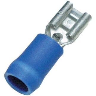 Flatstiftshylsa blå 6,3 mm 10-pack (kabelarea 1,5 - 2,5 mm²)